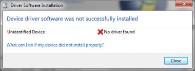 Windows 7 install failed